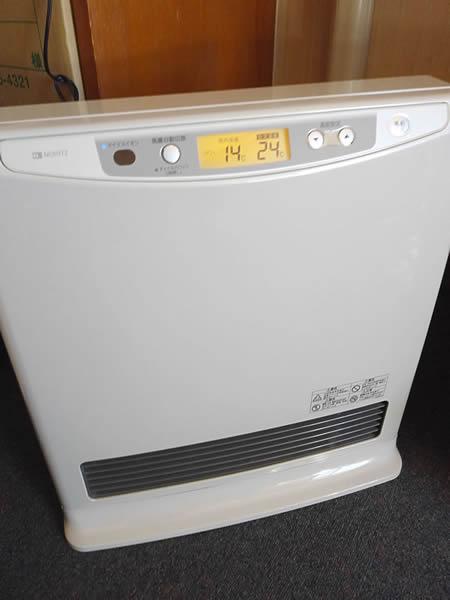 空気の乾燥を抑えるマイナスイオンのガスヒーター
